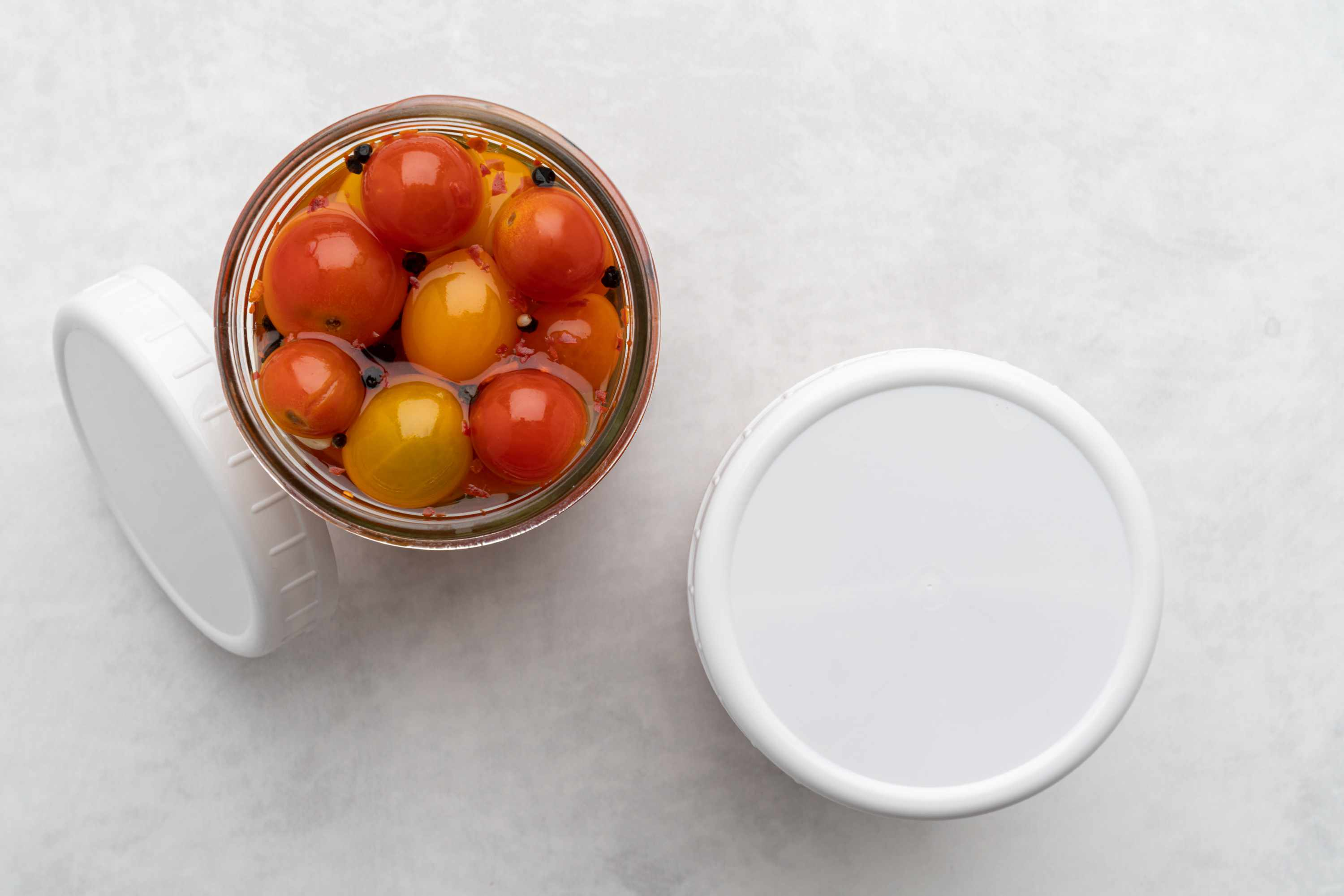 Pickled Cherry Tomatoes in a jar