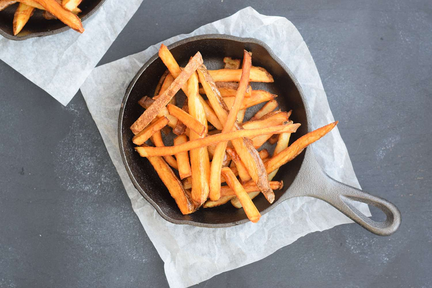 Add fries to a warm skillet