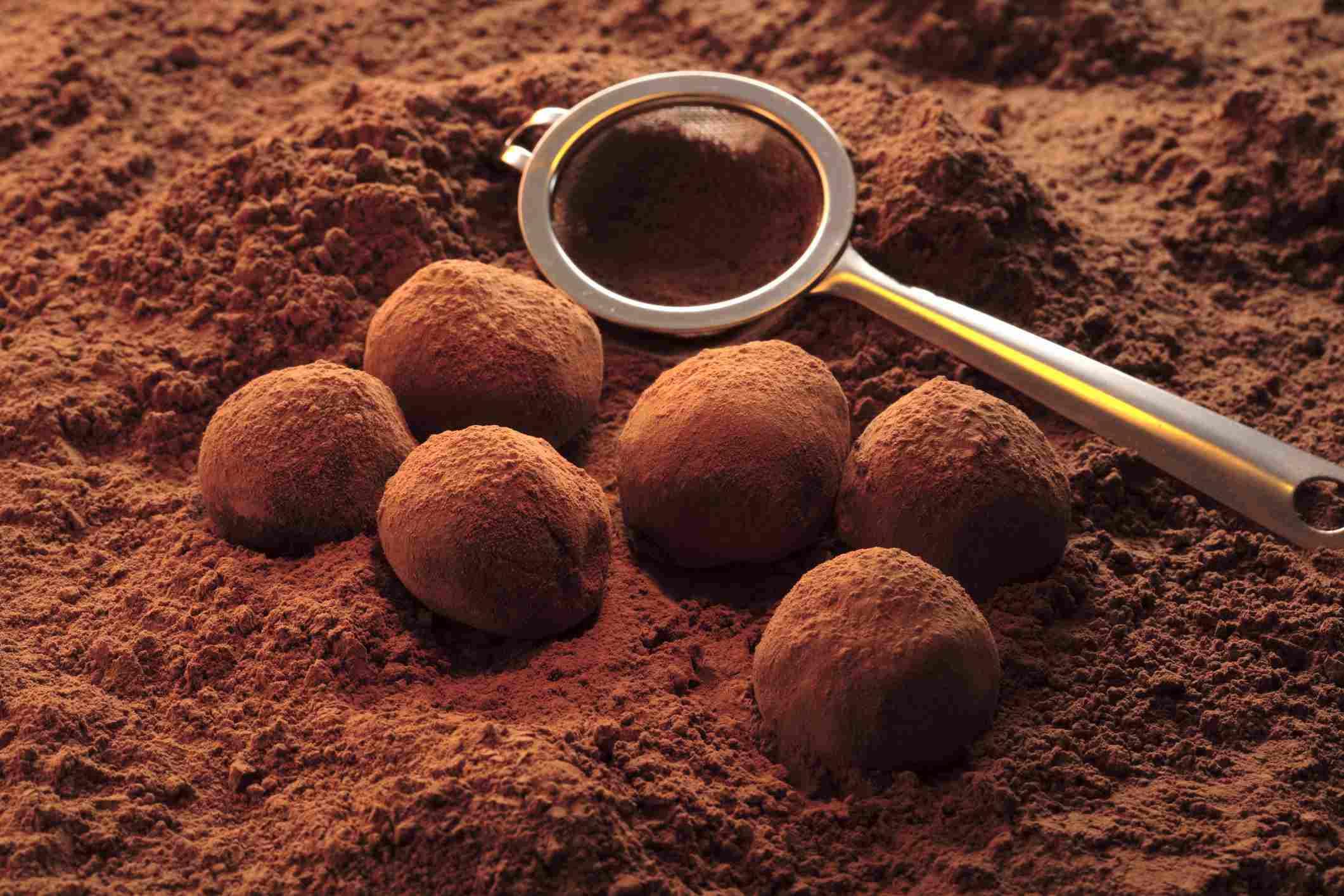 Classic French Dark Chocolate Truffles