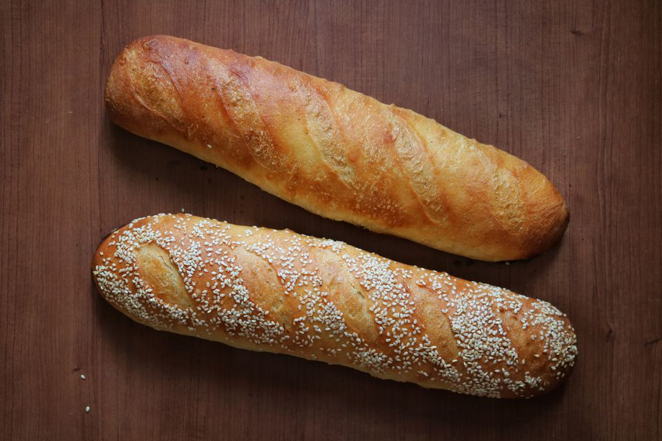 Homemade, rustic french baguettes
