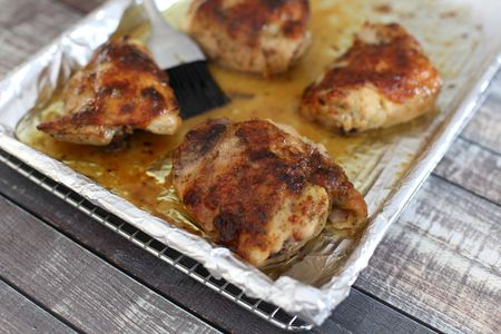 Easy Oven Barbecued Chicken And Sauce