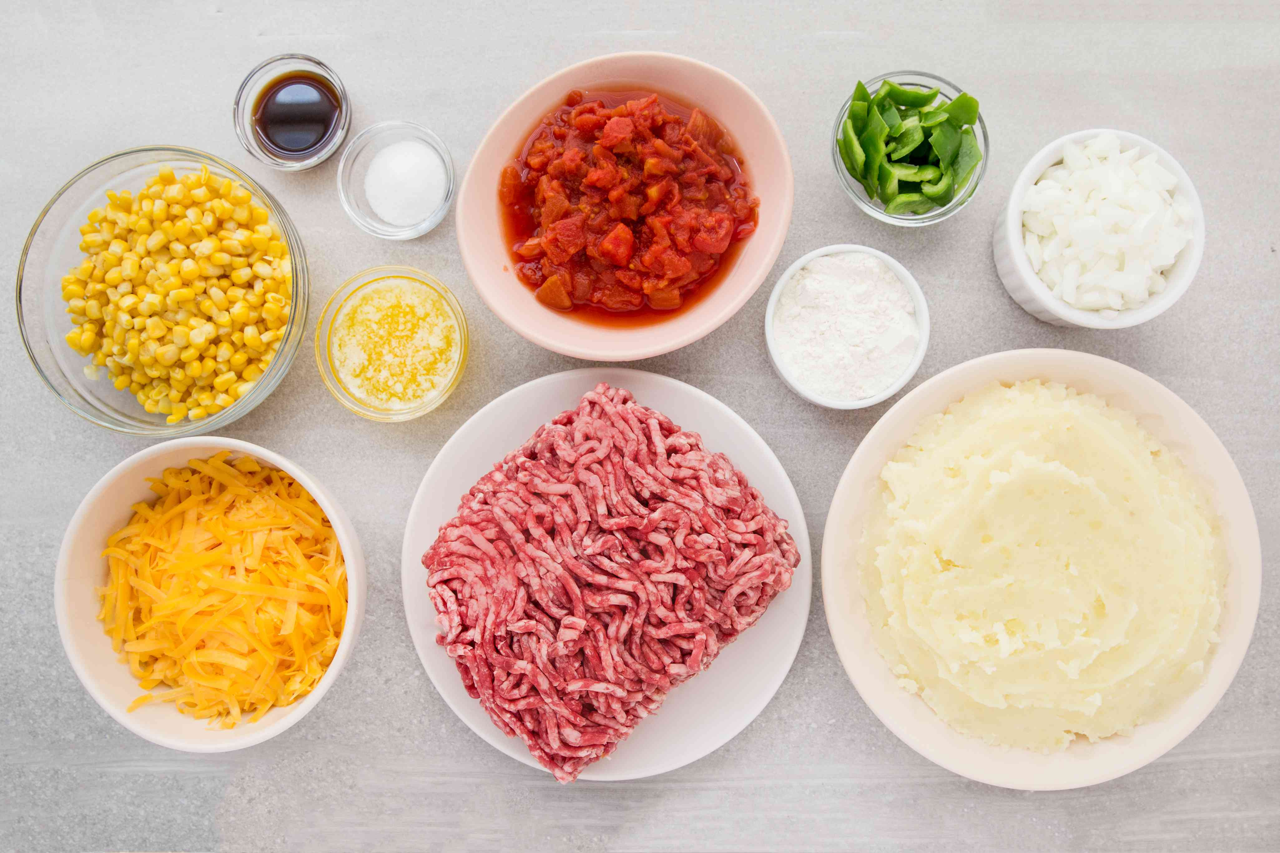 Ground Beef Casserole With Potatoes and Cheese ingredients