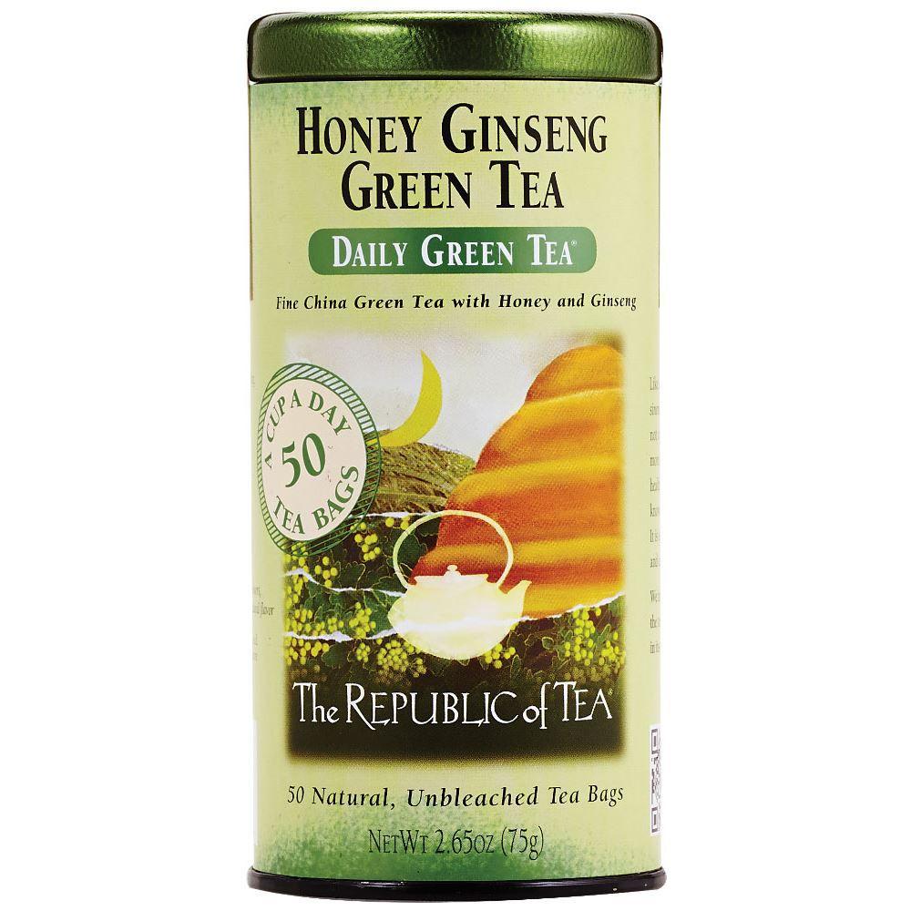 The Republic of Tea Honey Ginseng Green Tea