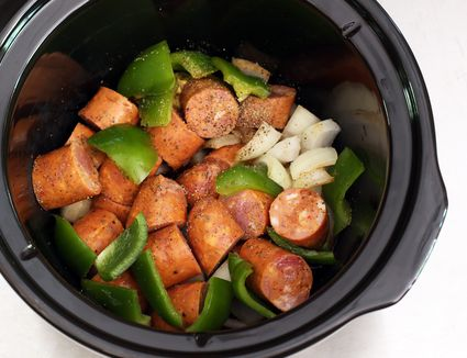 Barbecue Sausages in the Slow Cooker