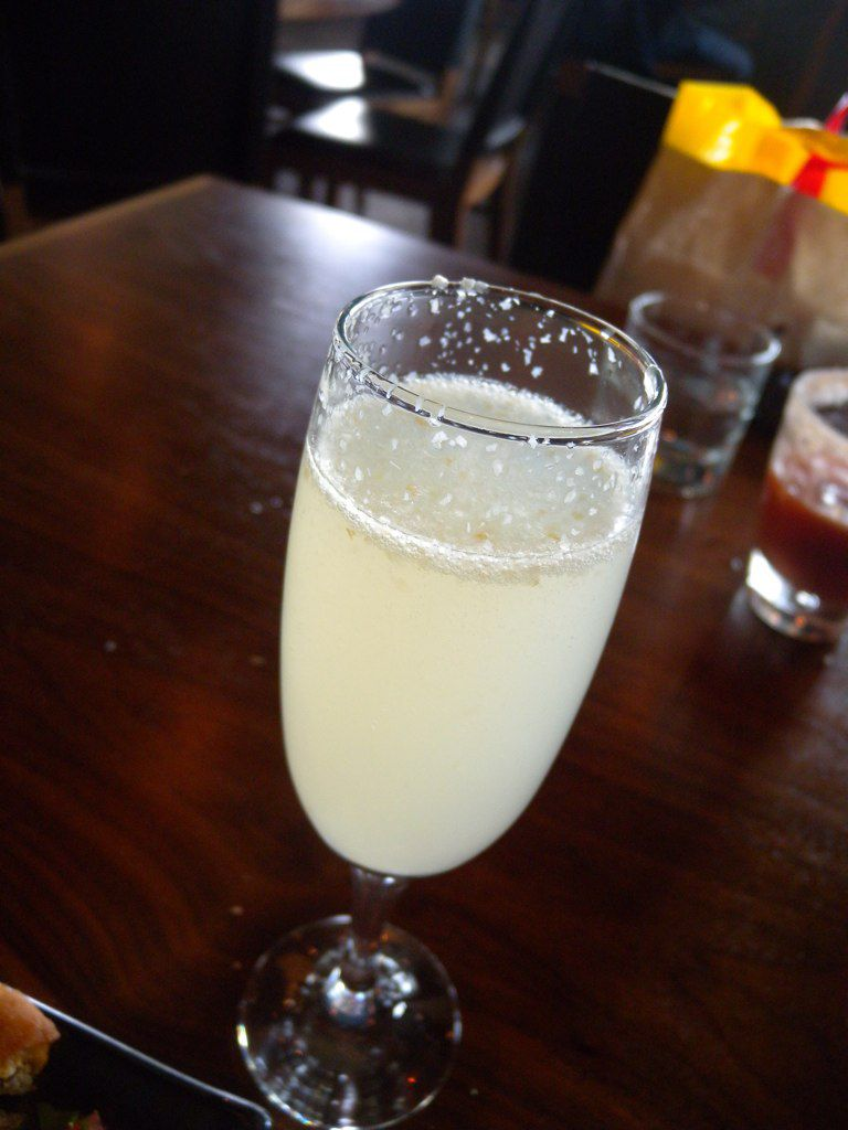 Lychee Bellini in Glass