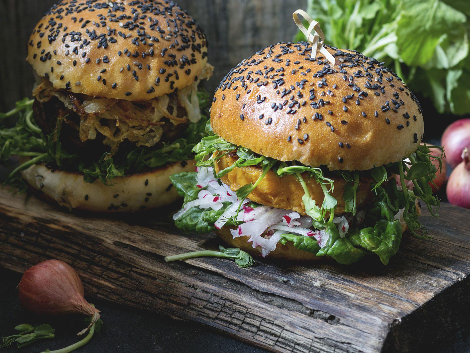 Vegan Sweet Potato Veggie Burgers With Quinoa Recipe