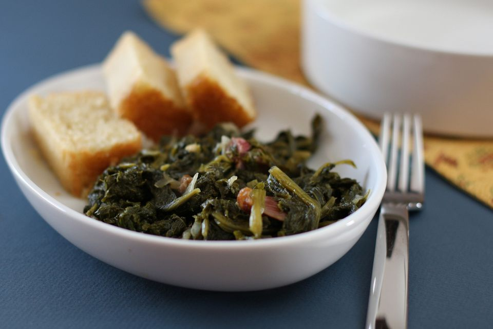 Mustard Greens With Ham