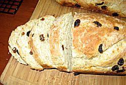Receta de pan de avena con pasas de uva