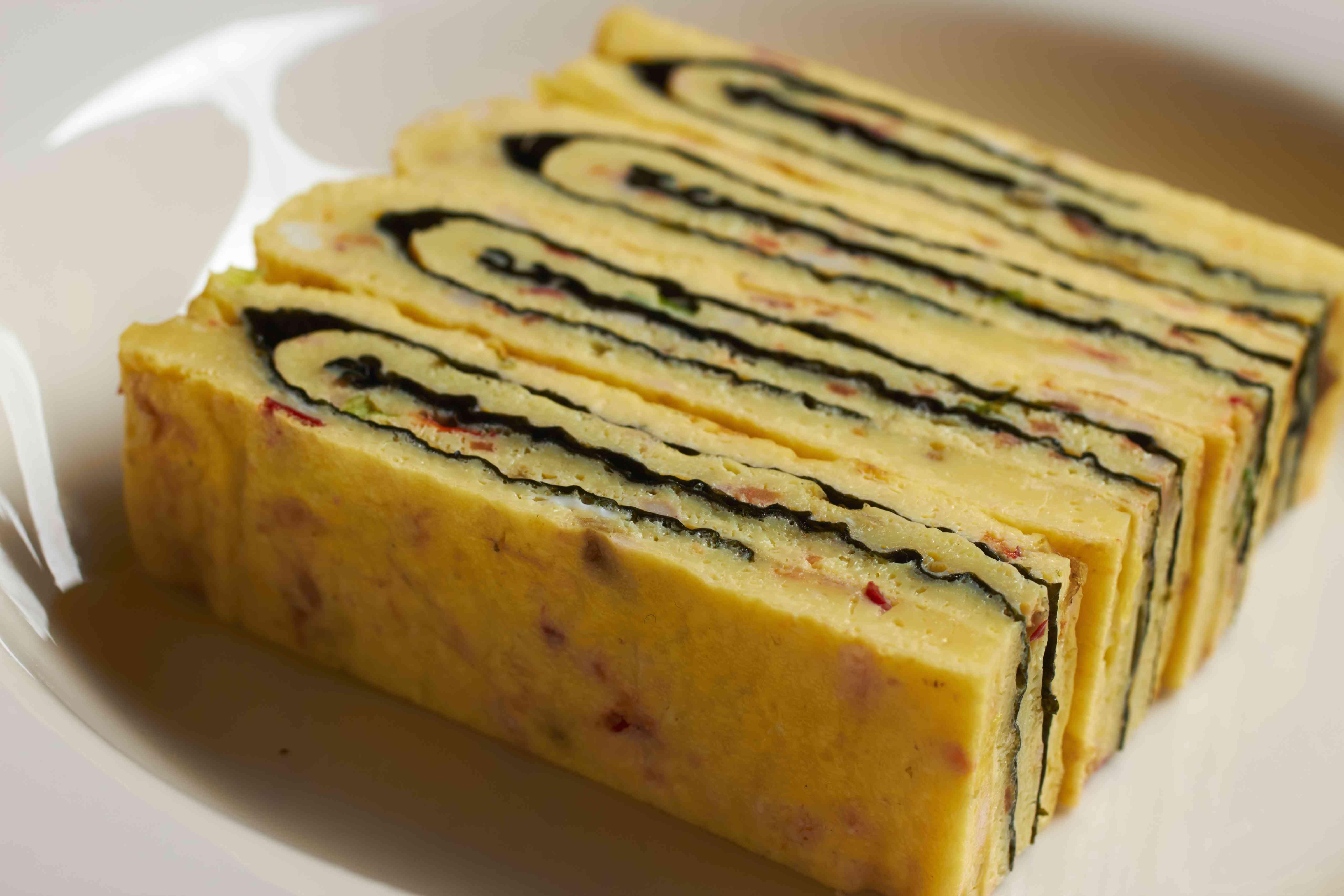 Korean style rolled omlette
