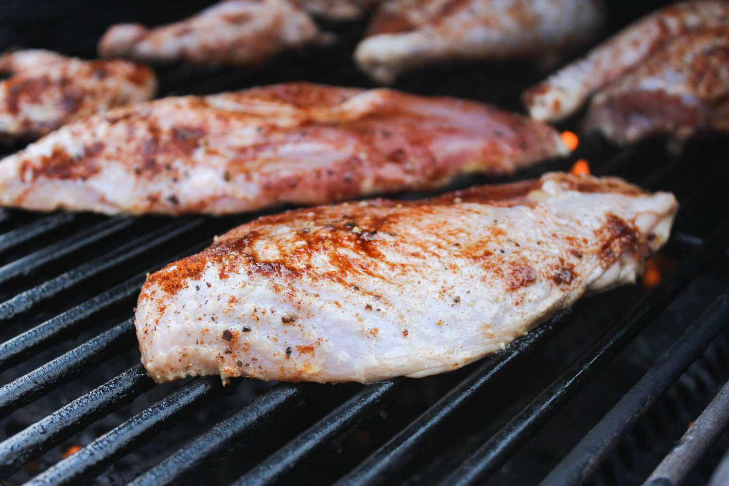 Pheasant on grill