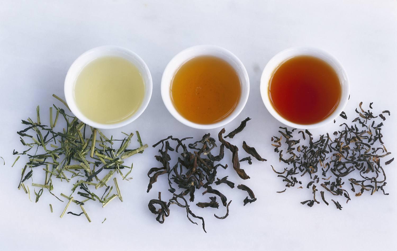 Three types of tea