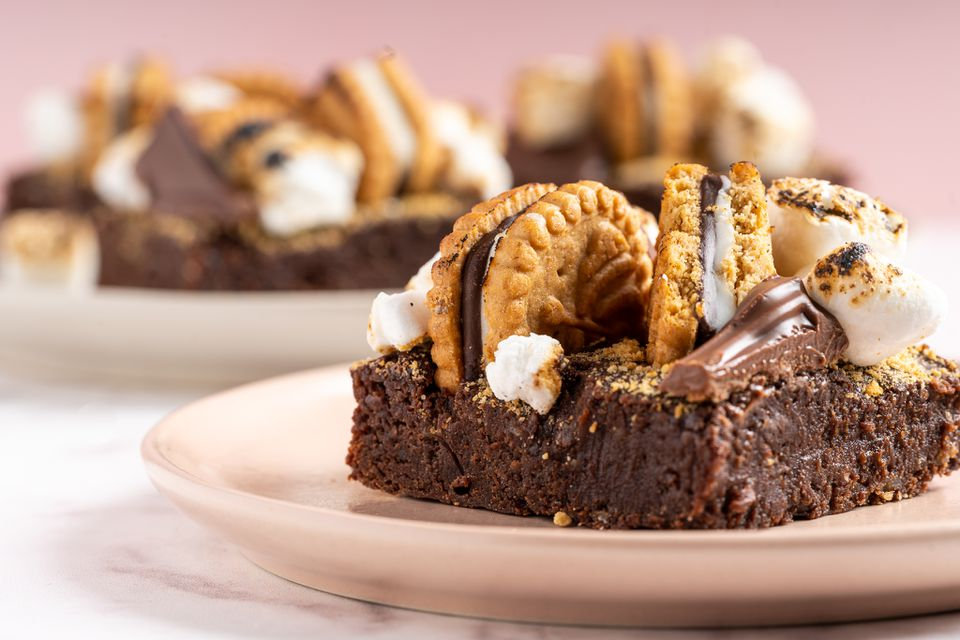 Girl Scout Cookie S'mores Bars