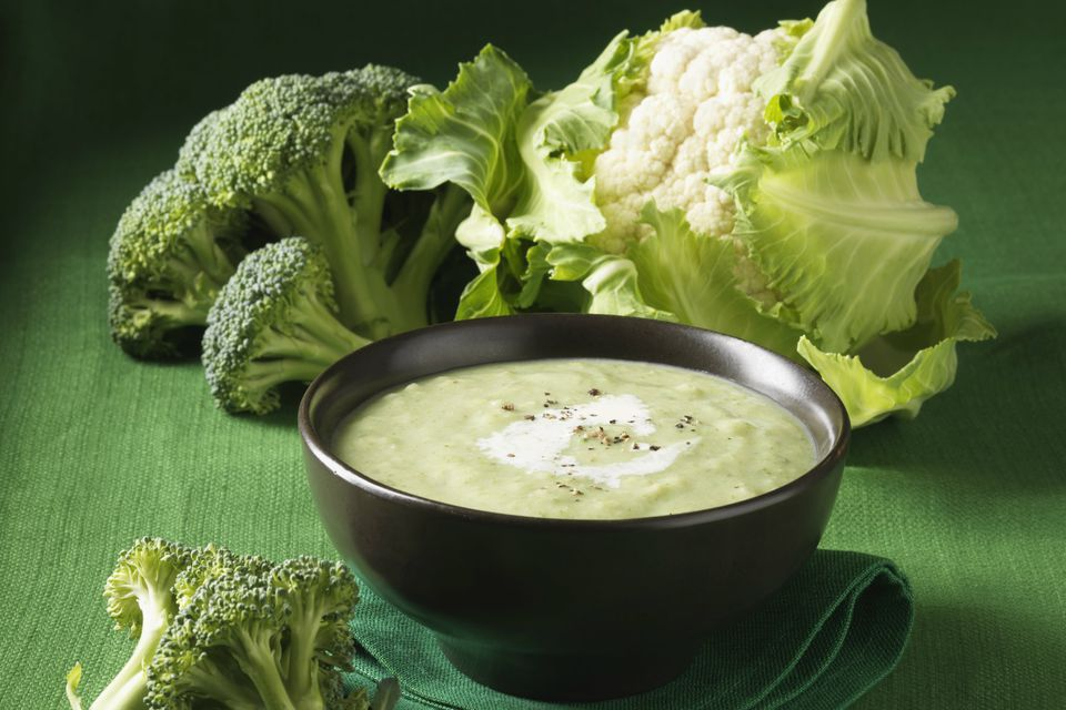 Cauliflower and broccoli soup