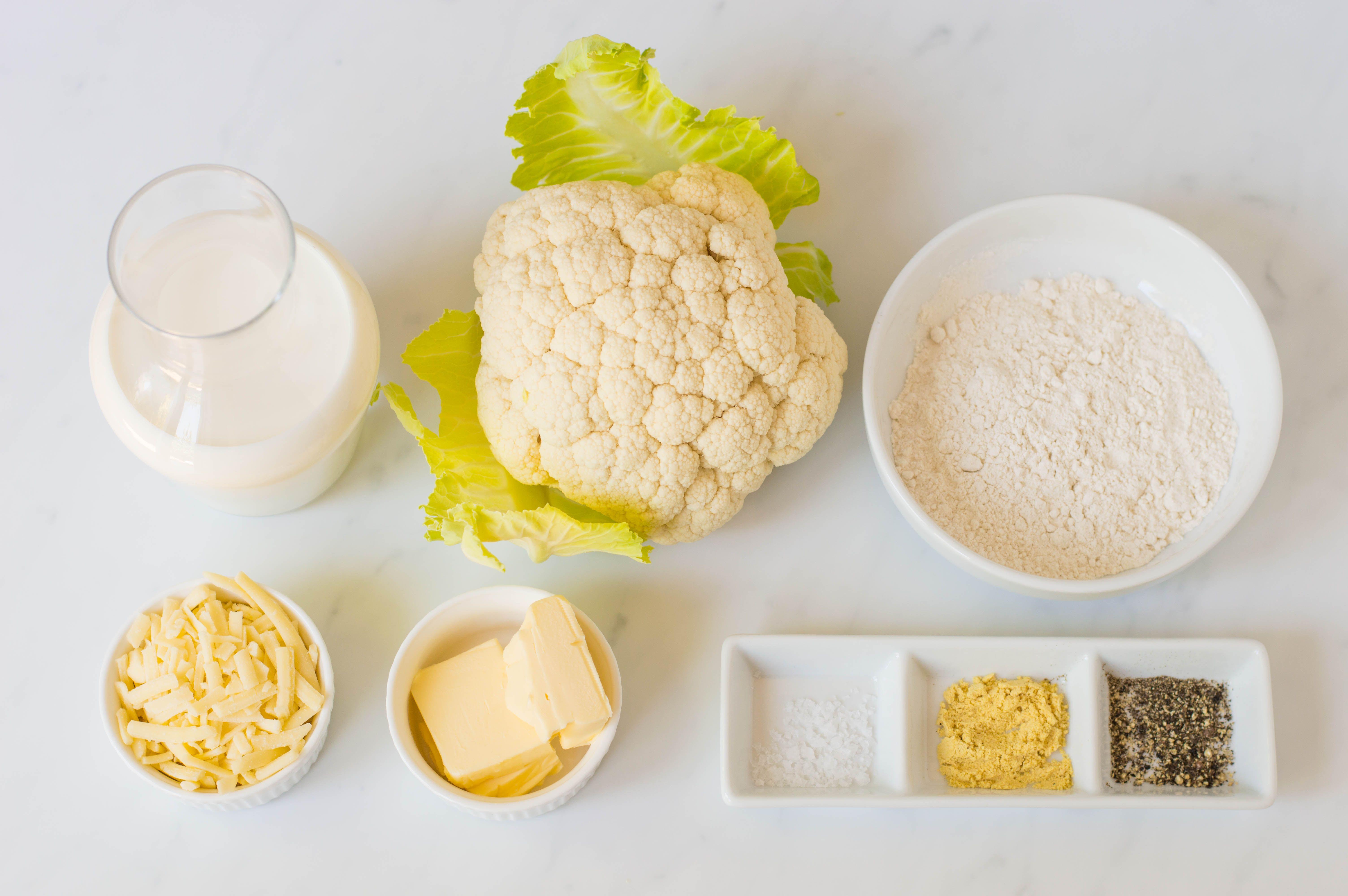 Cauliflower Cheese Recipe Ingredients