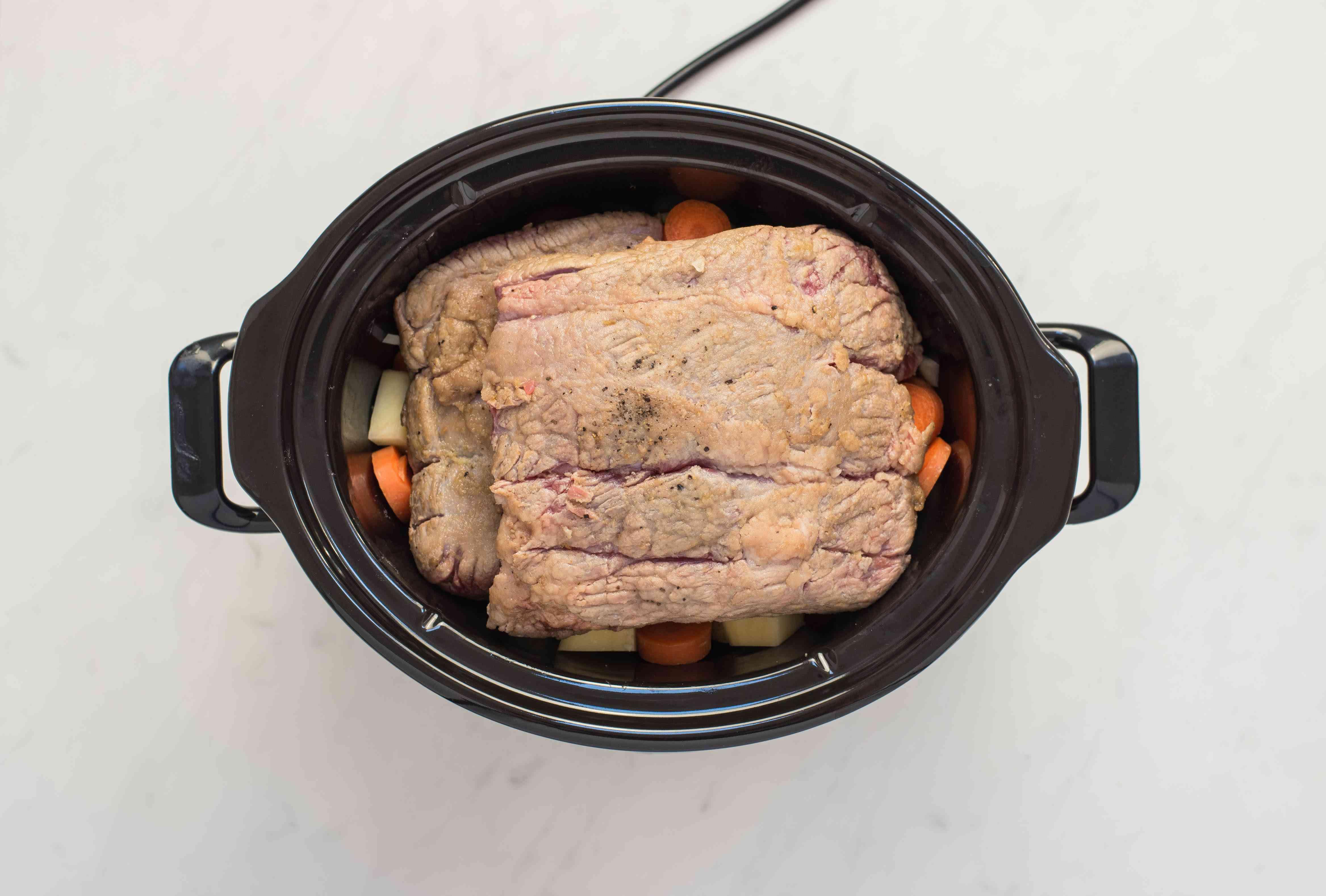 Put roast on slow cooker