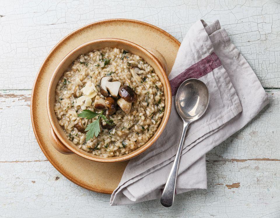 Quinotto- Quinoa mushroom risotto
