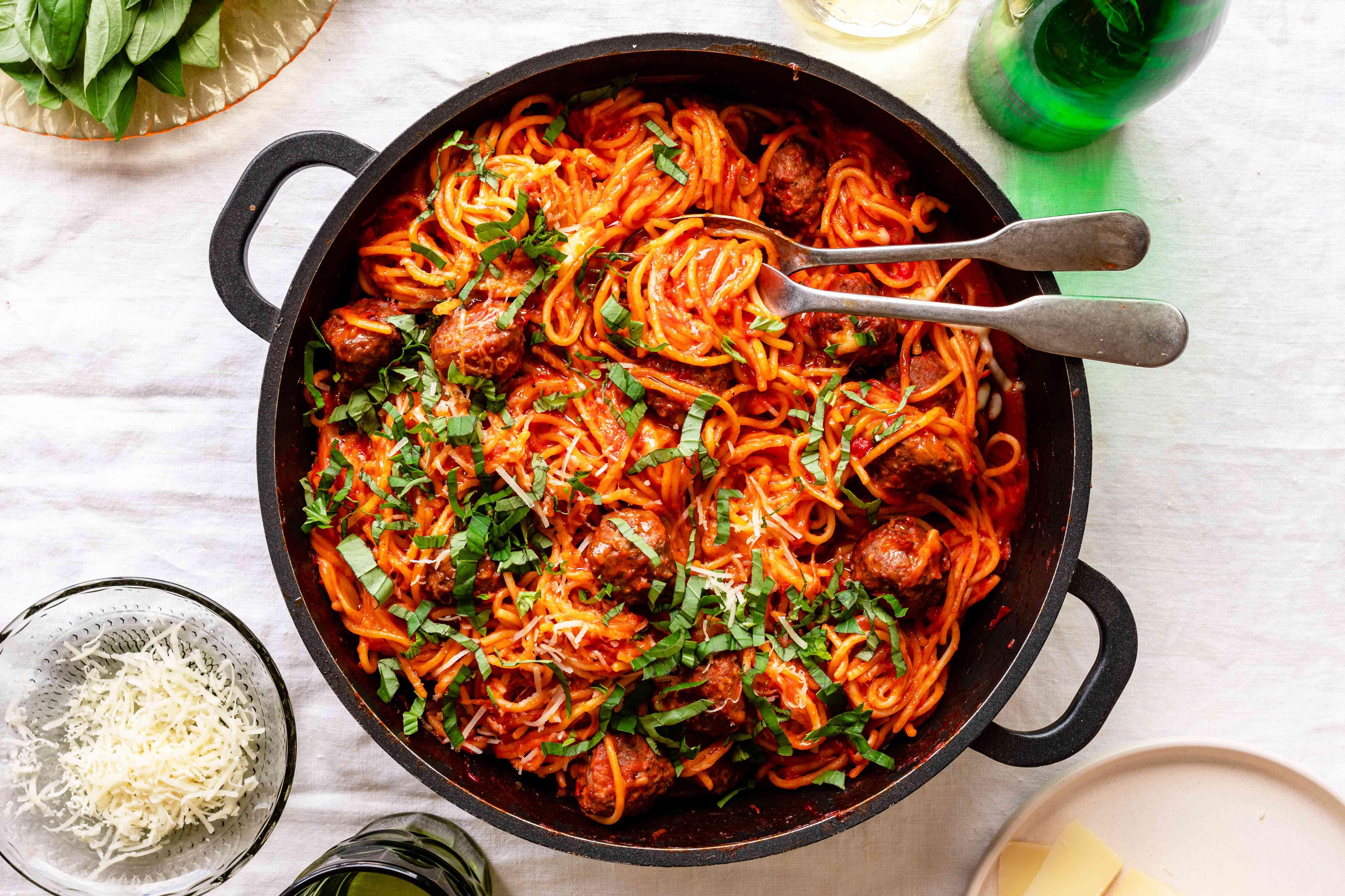 Skillet spaghetti recipe