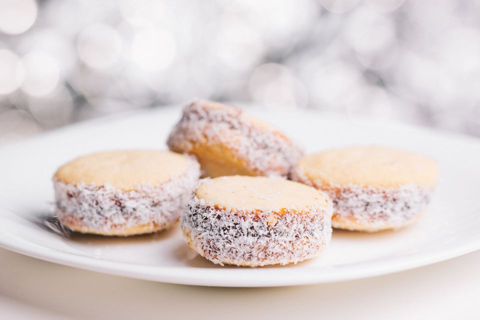 alfajores cookies on a plate
