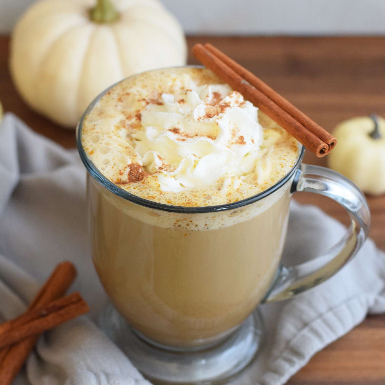 Mug of keto pumpkin spice latte