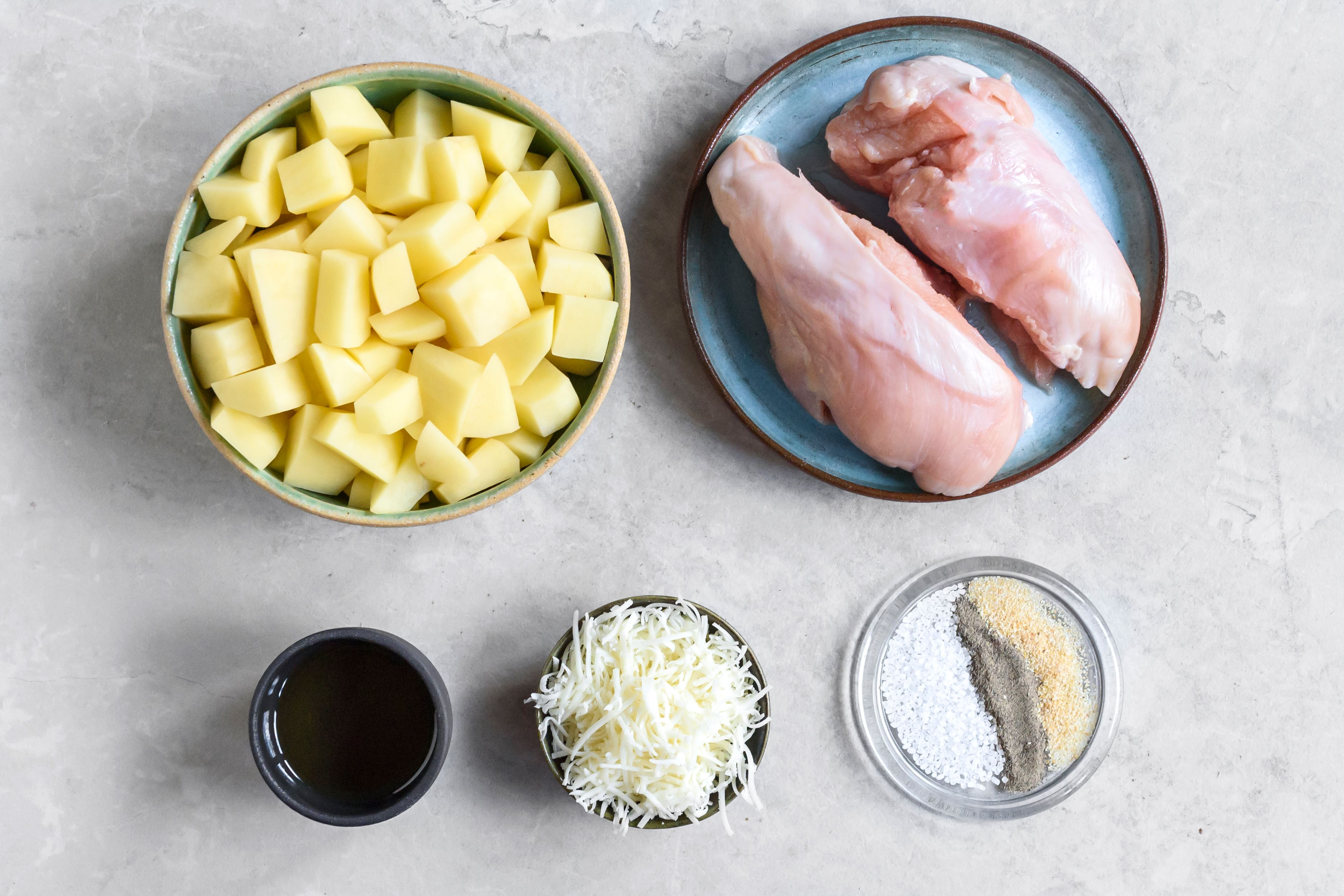 Baked Chicken and Potatoes Recipe ingredients