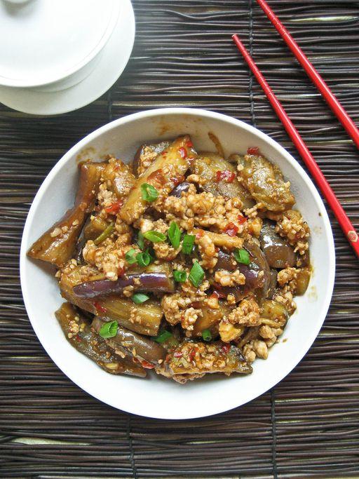 Sichuan eggplant aubergine recipe