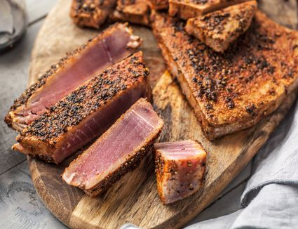 Spice-Rubbed Seared Tuna Steaks