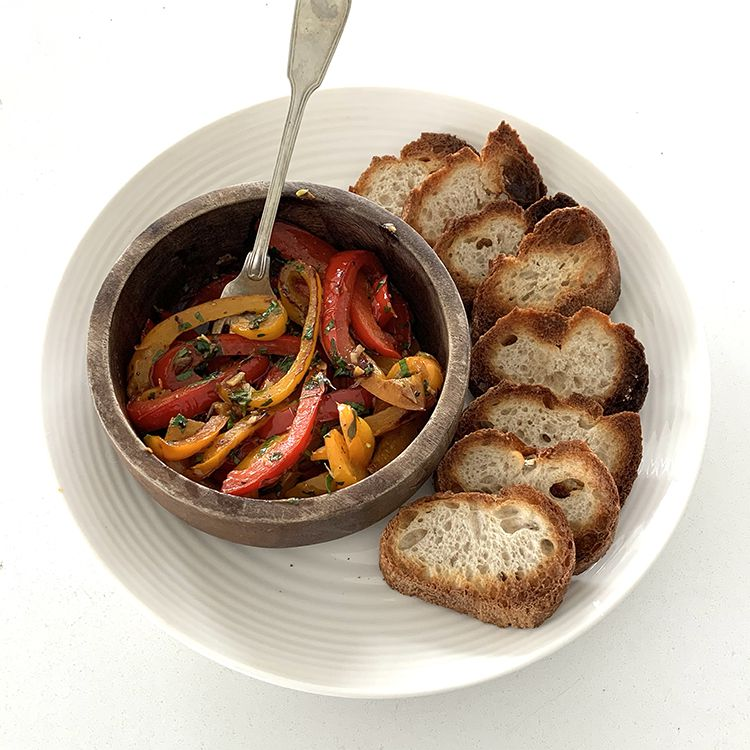 Garlic Herb Sauteed Bell Pepper Tester Image