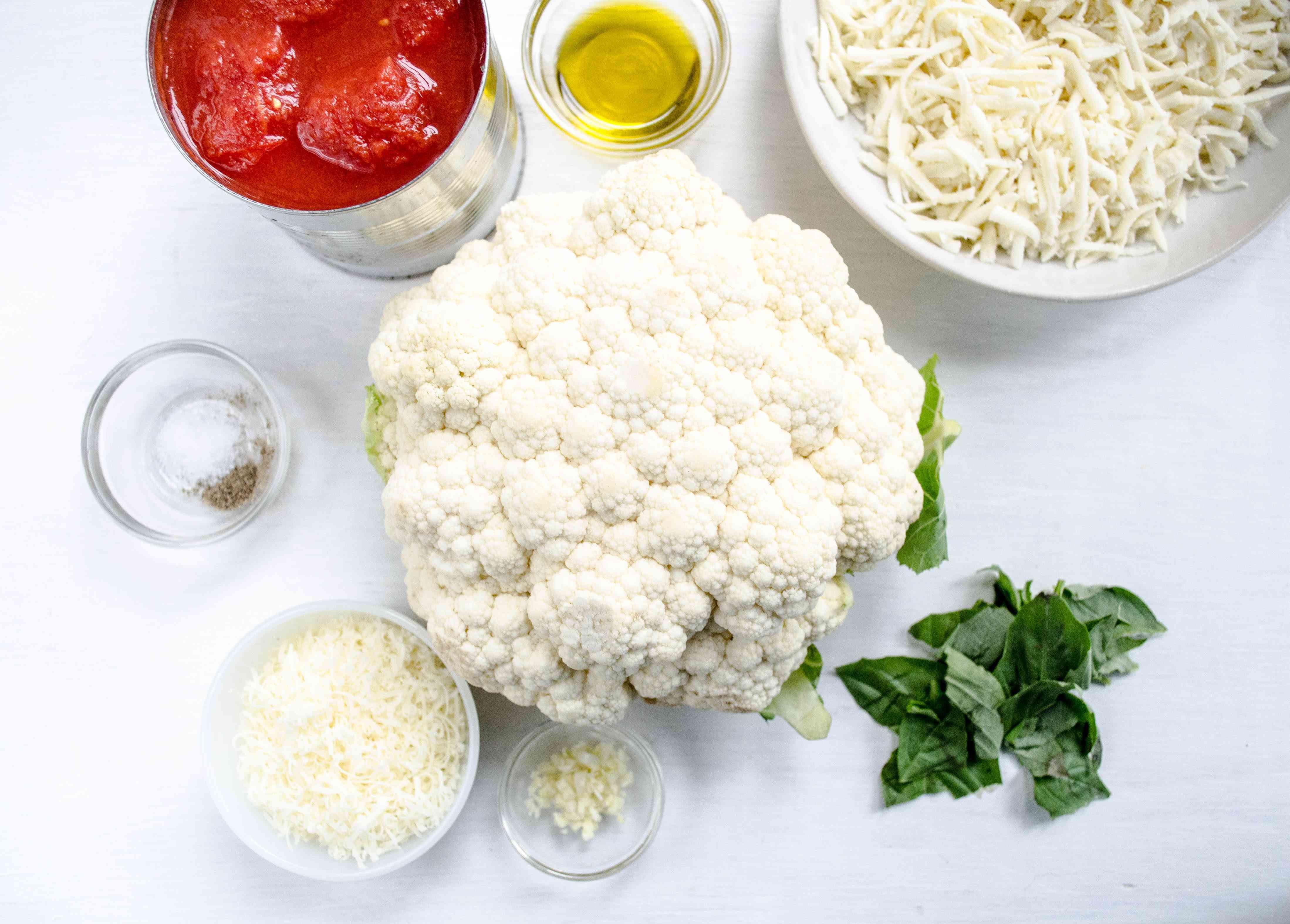 Cauliflower Parmesan Ingredients