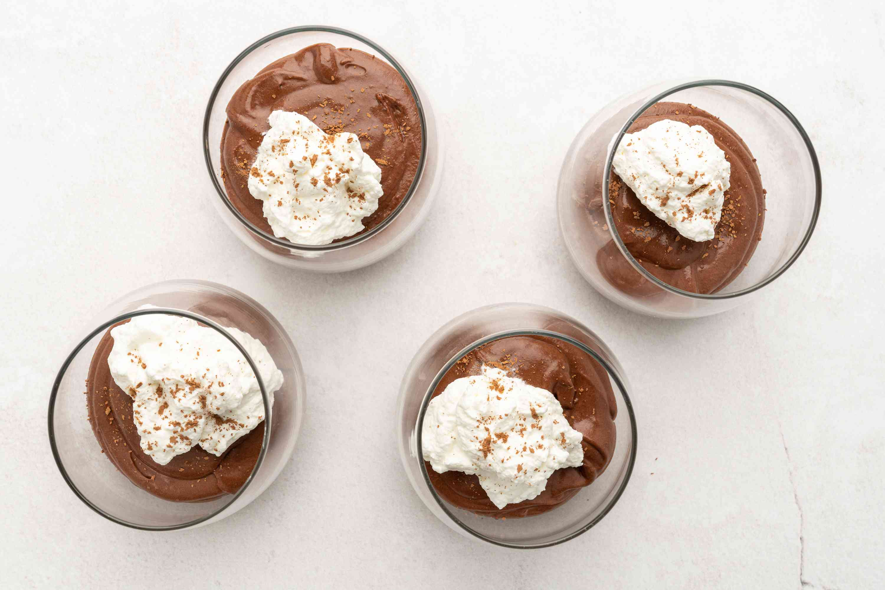 Make Sugar-Free Chocolate Mousse in glasses