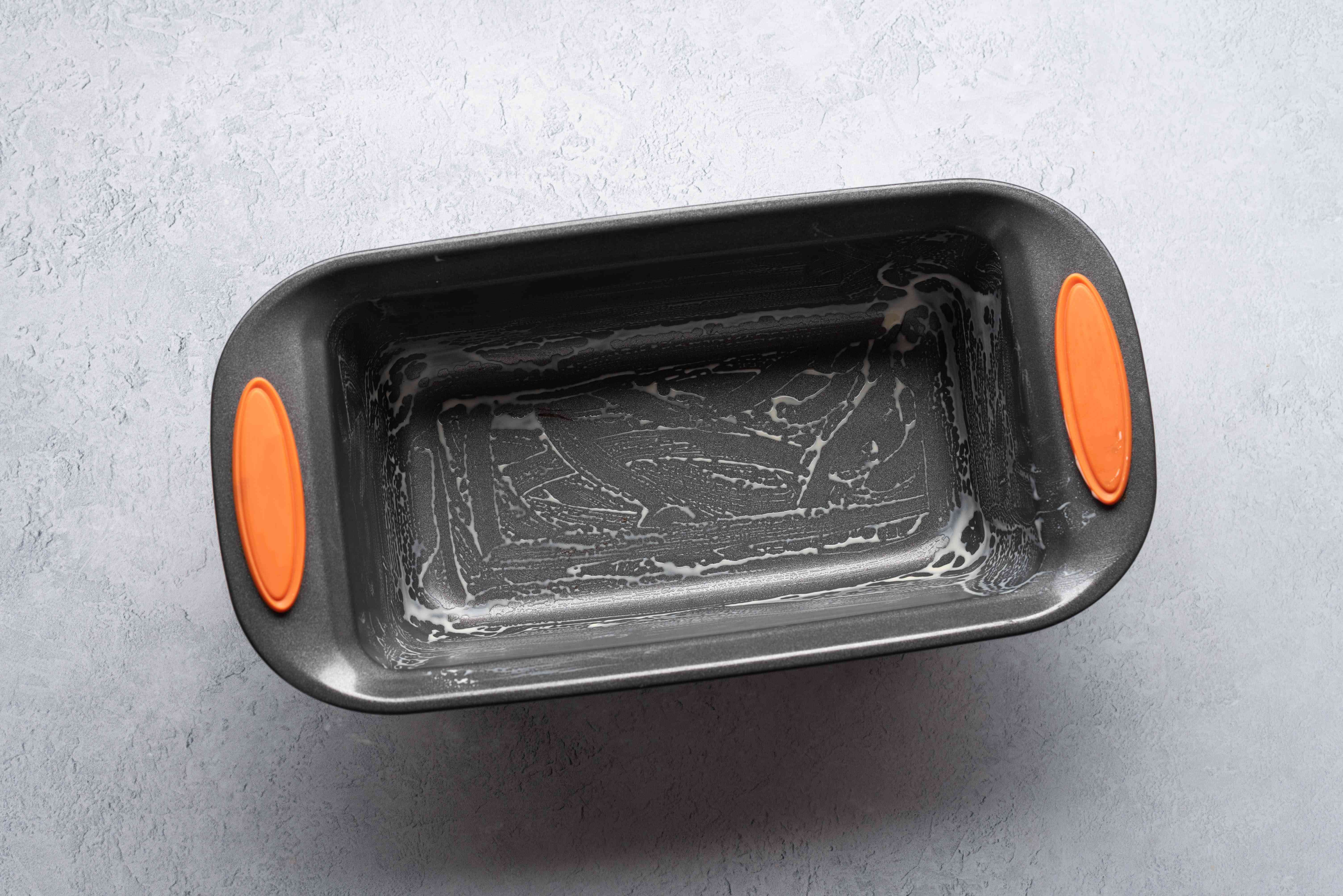 grease a 9-inch loaf pan