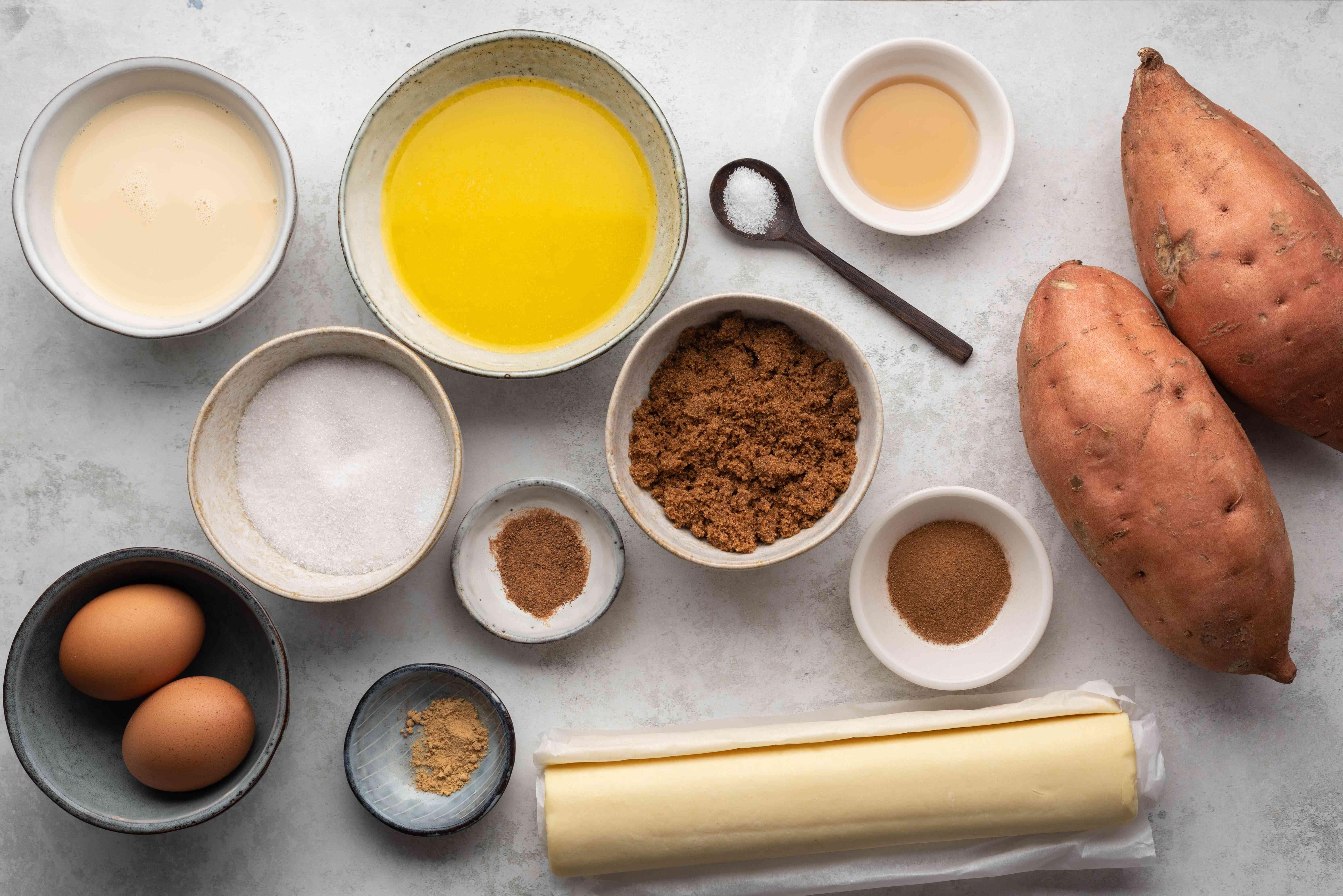 Sweet Potato Pie ingredients