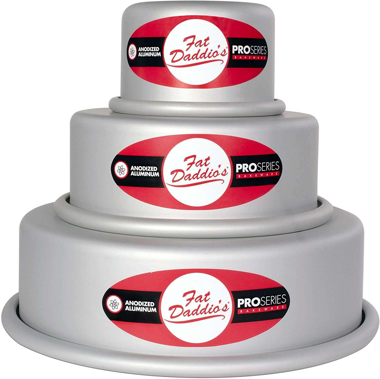 Fat Daddio's Anodized Aluminum Round Cake Pan Celebration Set
