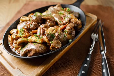 Crock Pot Chicken Livers With Mushrooms And Bacon Recipe