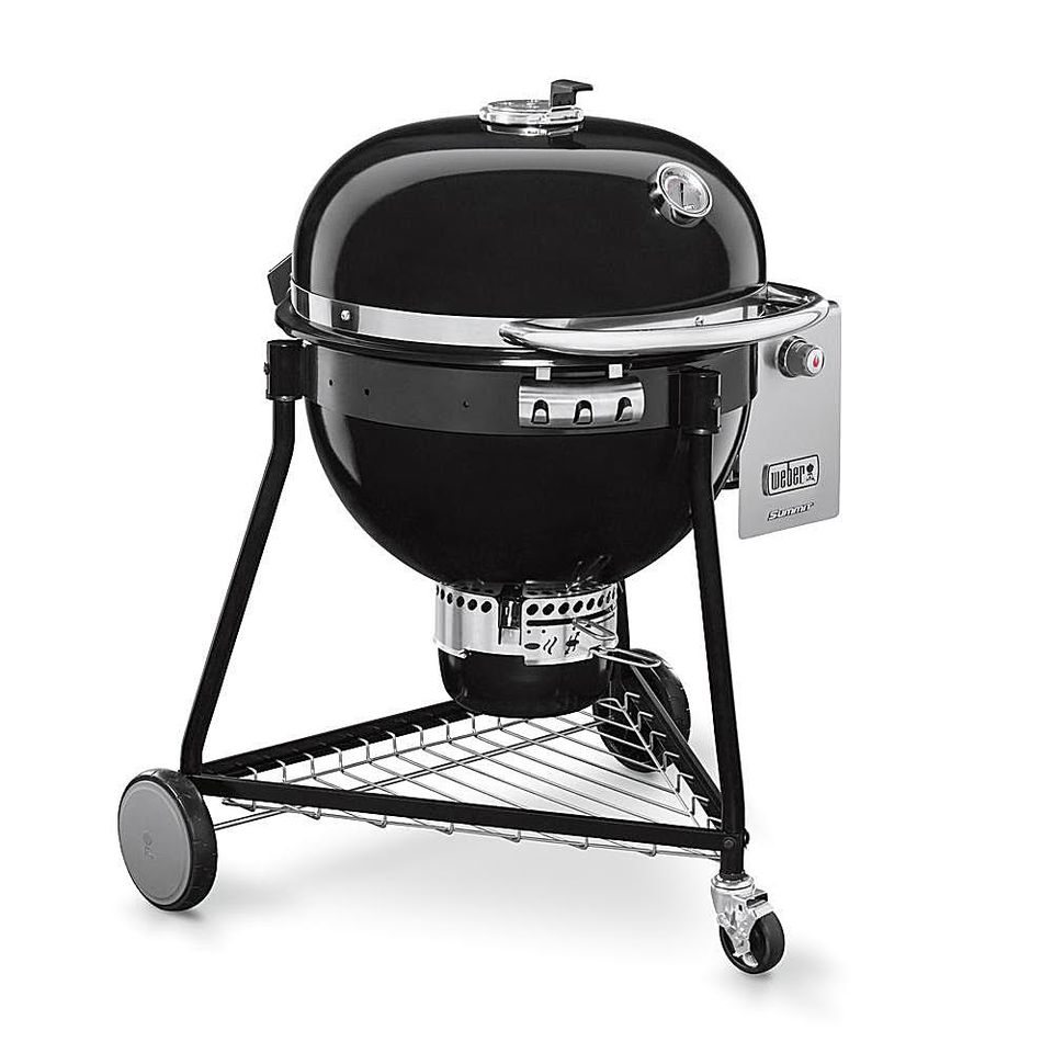 A Weber Summit Charcoal Grill