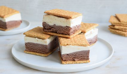 frozen s'mores on a plate