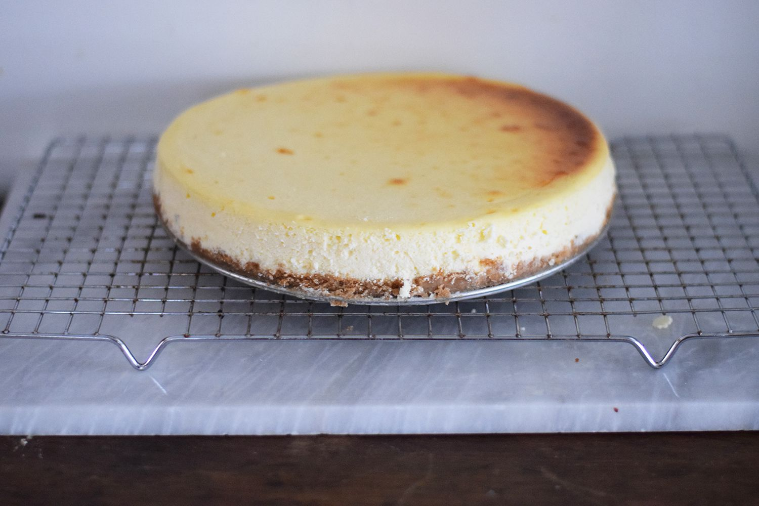 Let the Cheesecake Cool Gradually on a Wire Rack