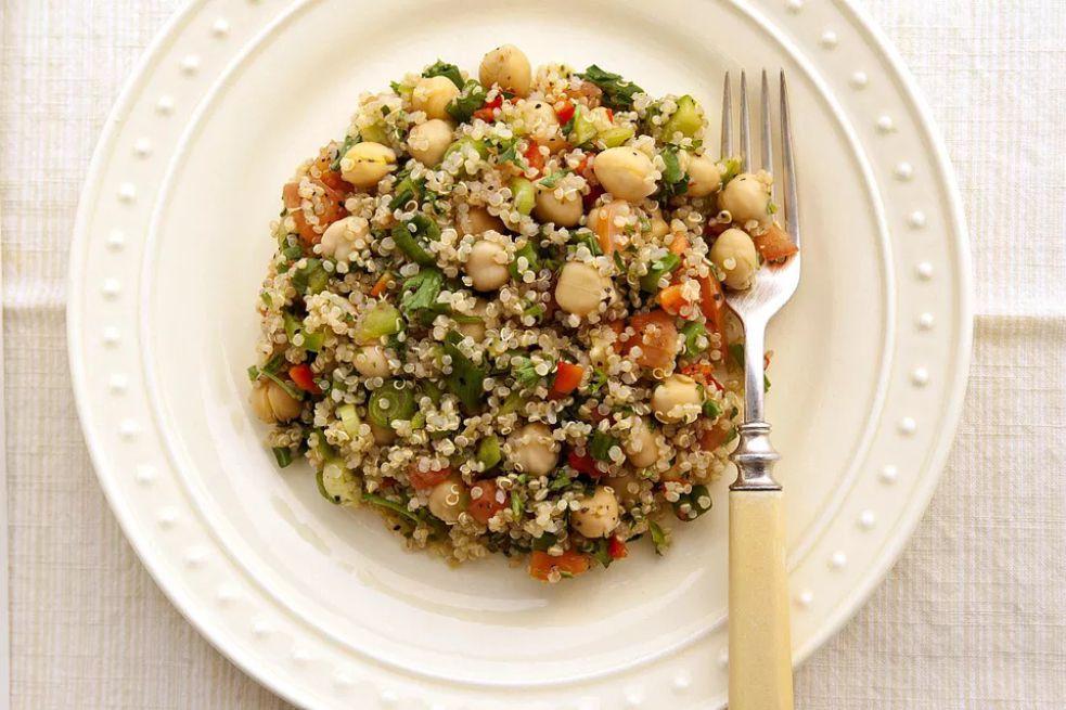 Quinoa, Salmon, and Chickpea Salad