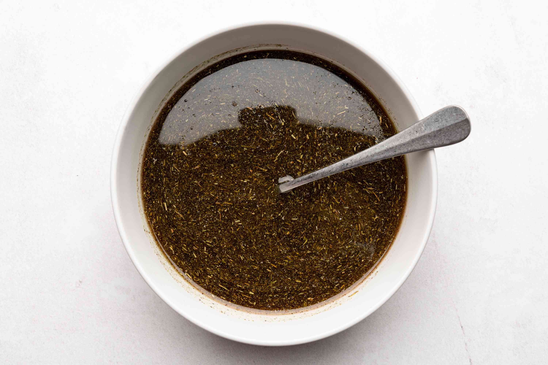 Italian Herb Turkey Injection Marinade in a bowl