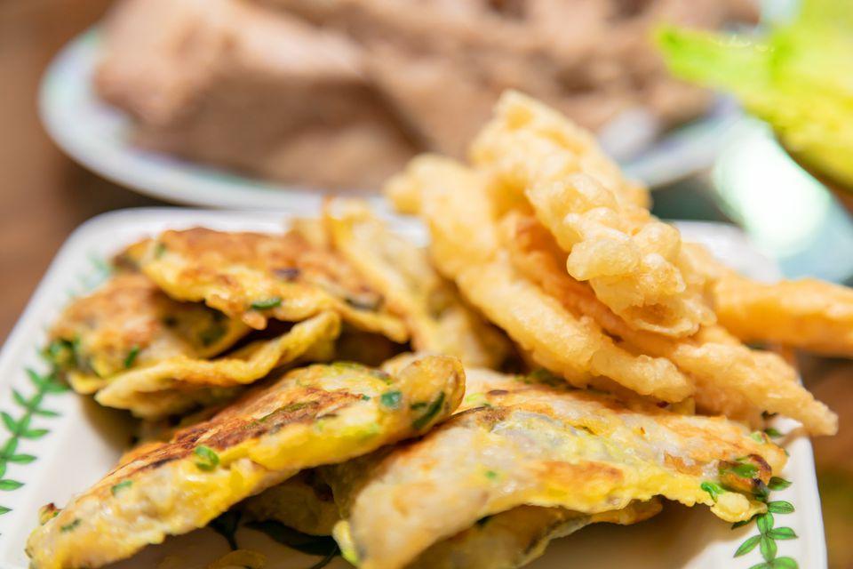 Korea (deep-) fried food, fried dish, fritter