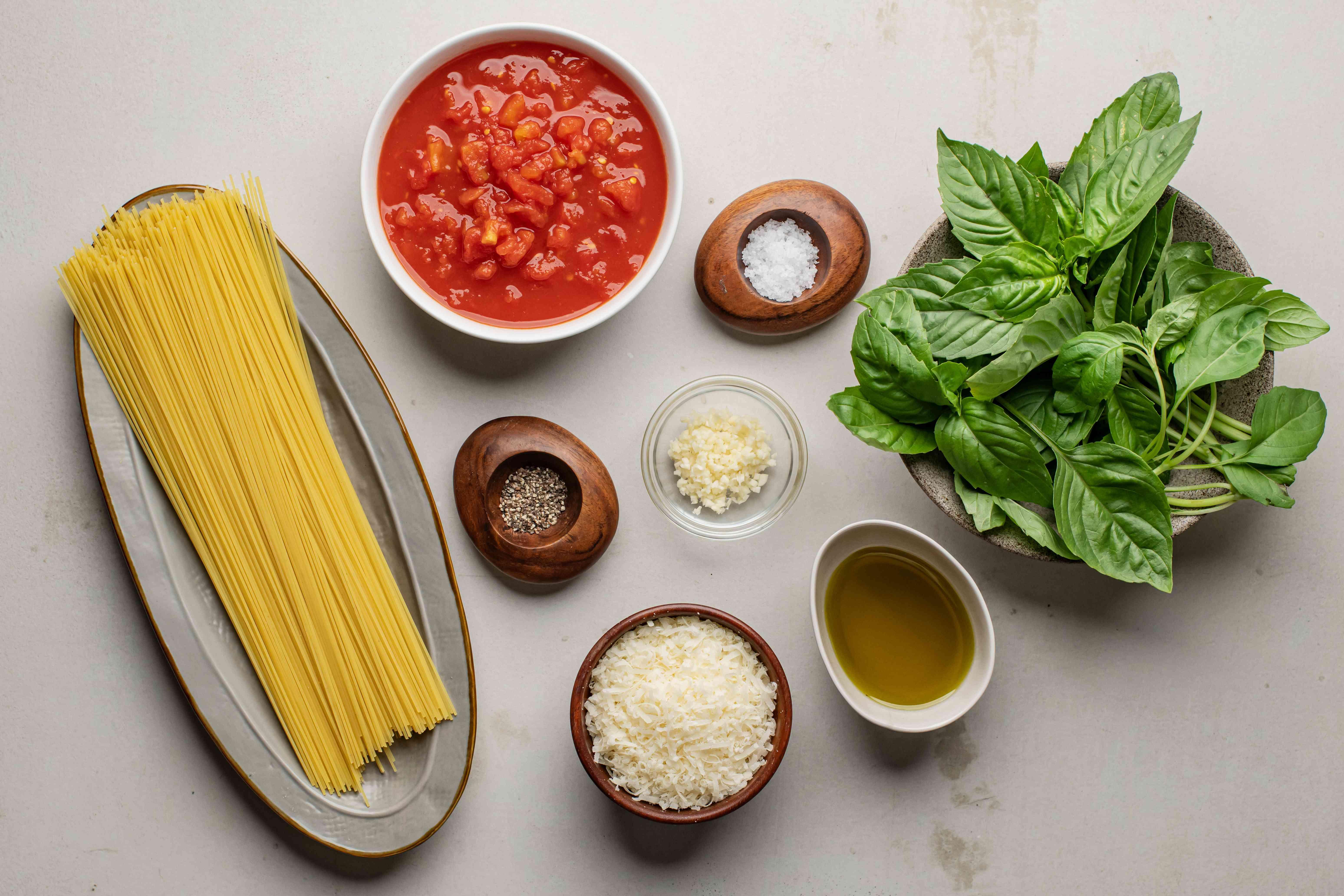 Capellini pomodoro ingredients