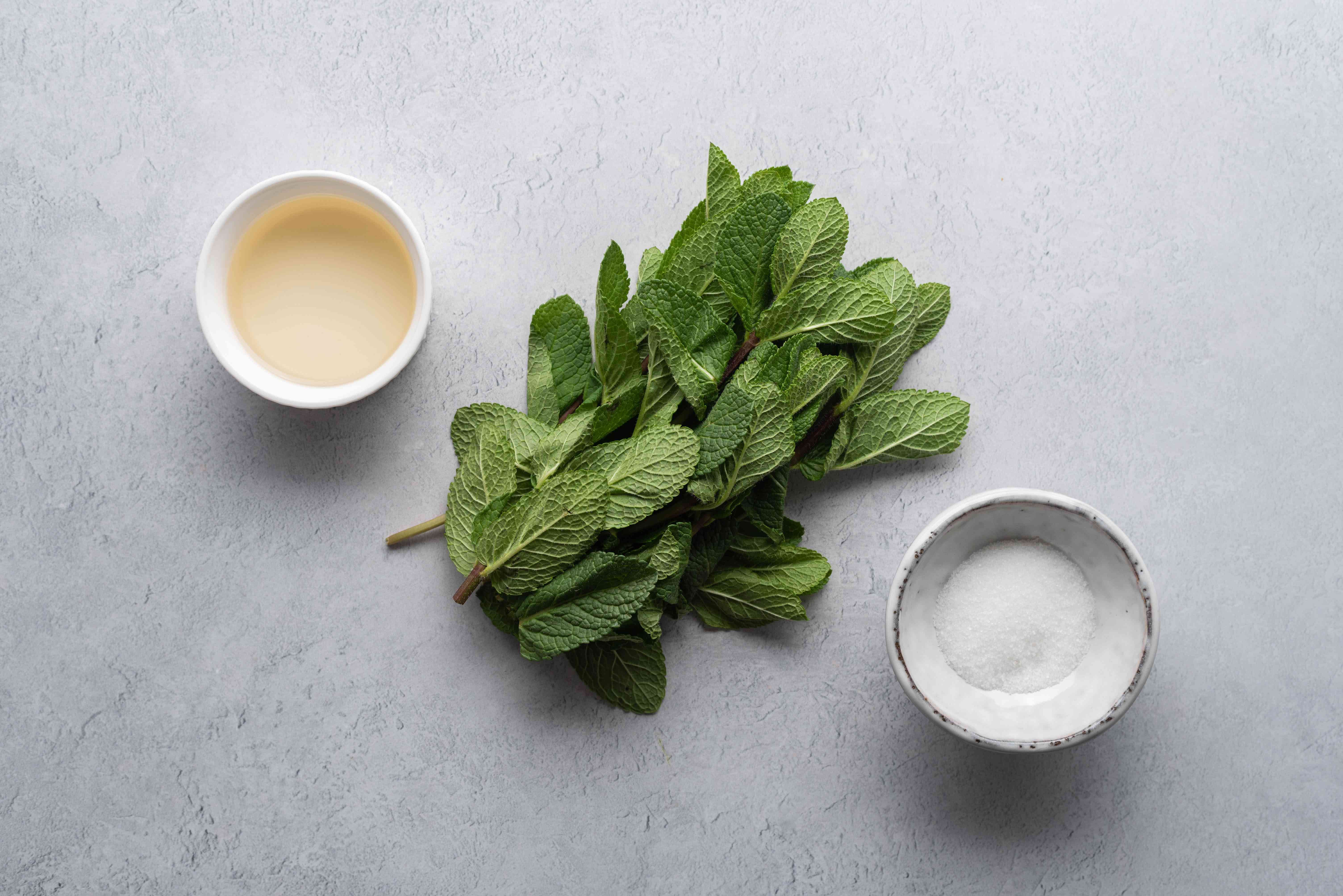 Homemade Mint Sauce ingredients