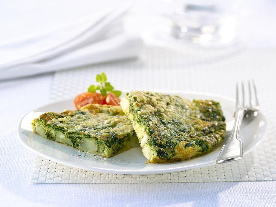 Crustless Spinach and Ricotta Pie