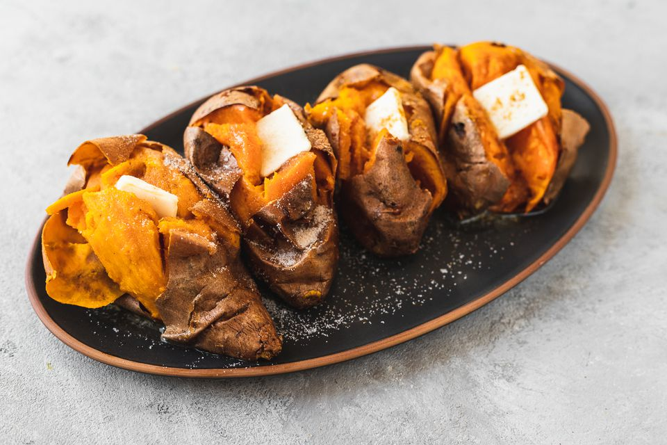 Whole Baked Sweet Potatoes