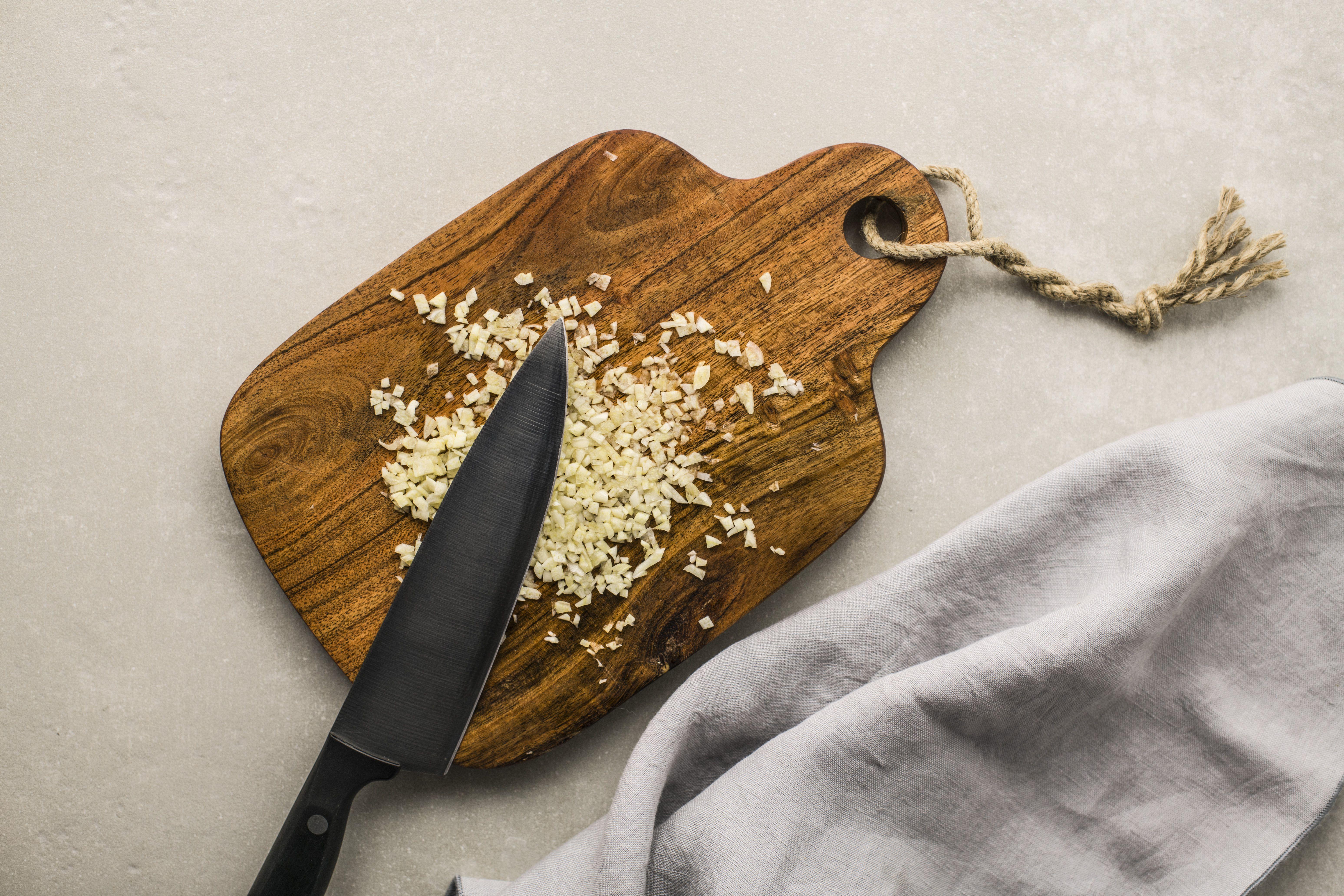 Crush garlic