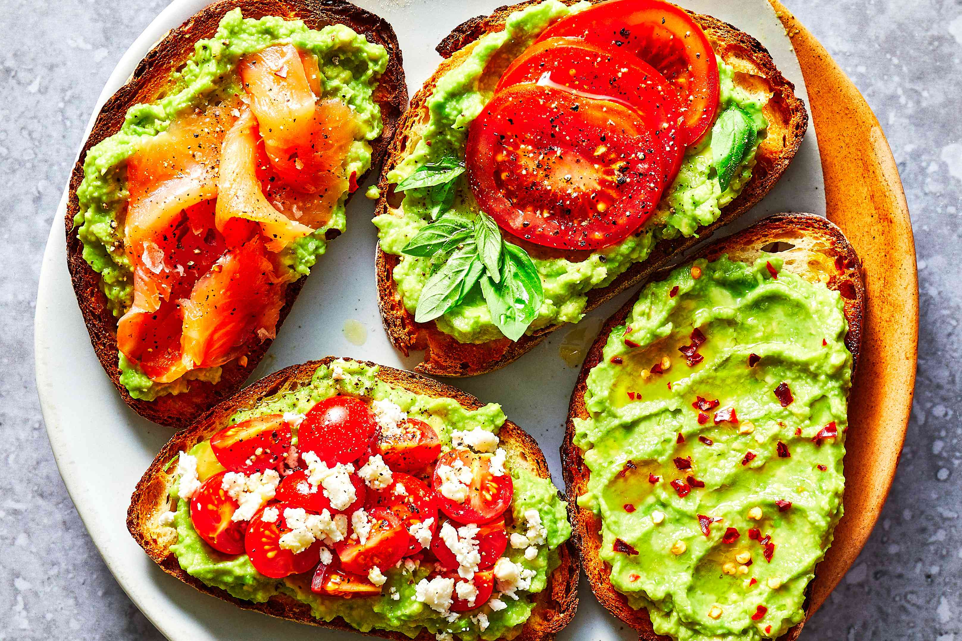 avocado toasts on a plate