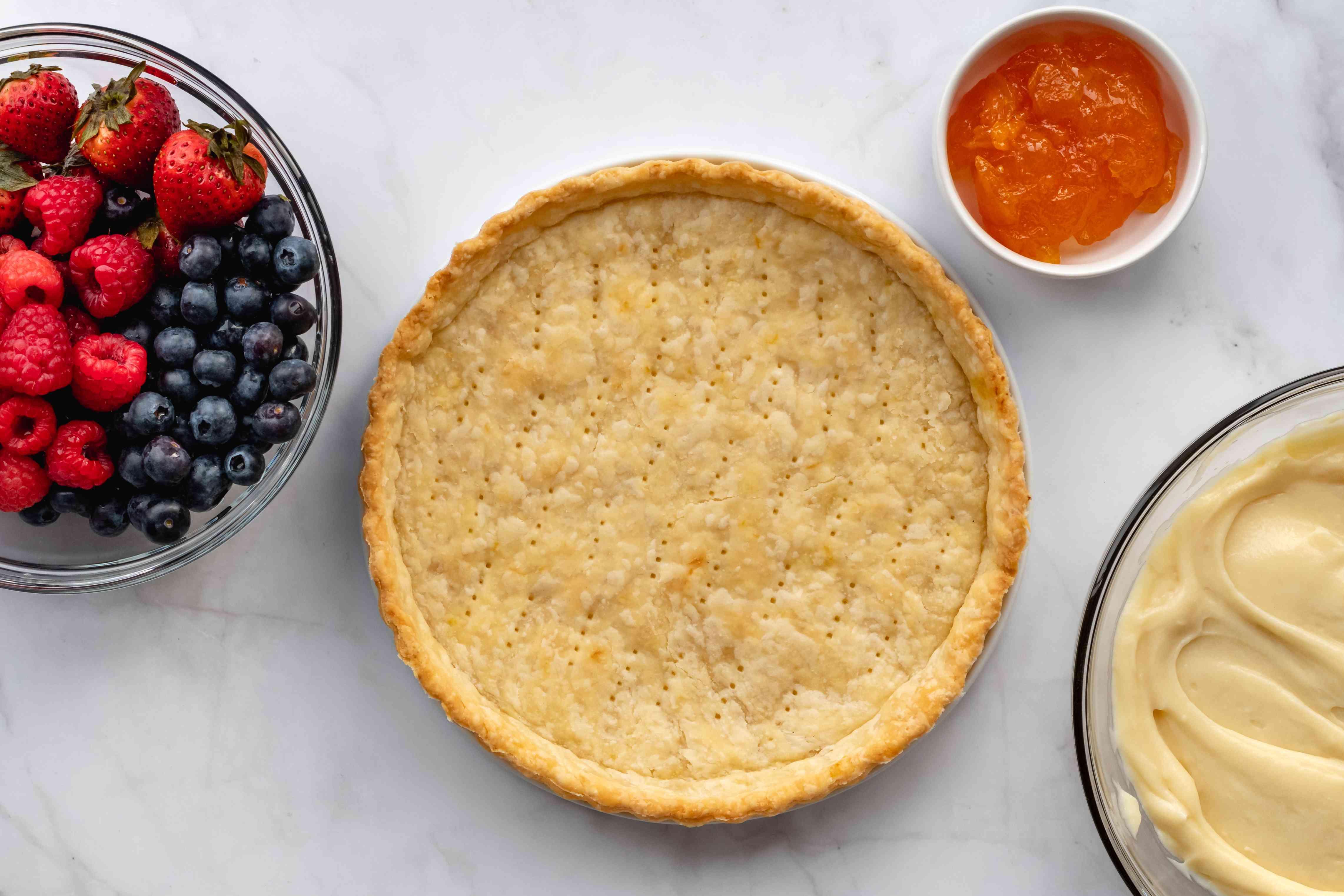 Vanilla Custard Fruit Tart ingredients
