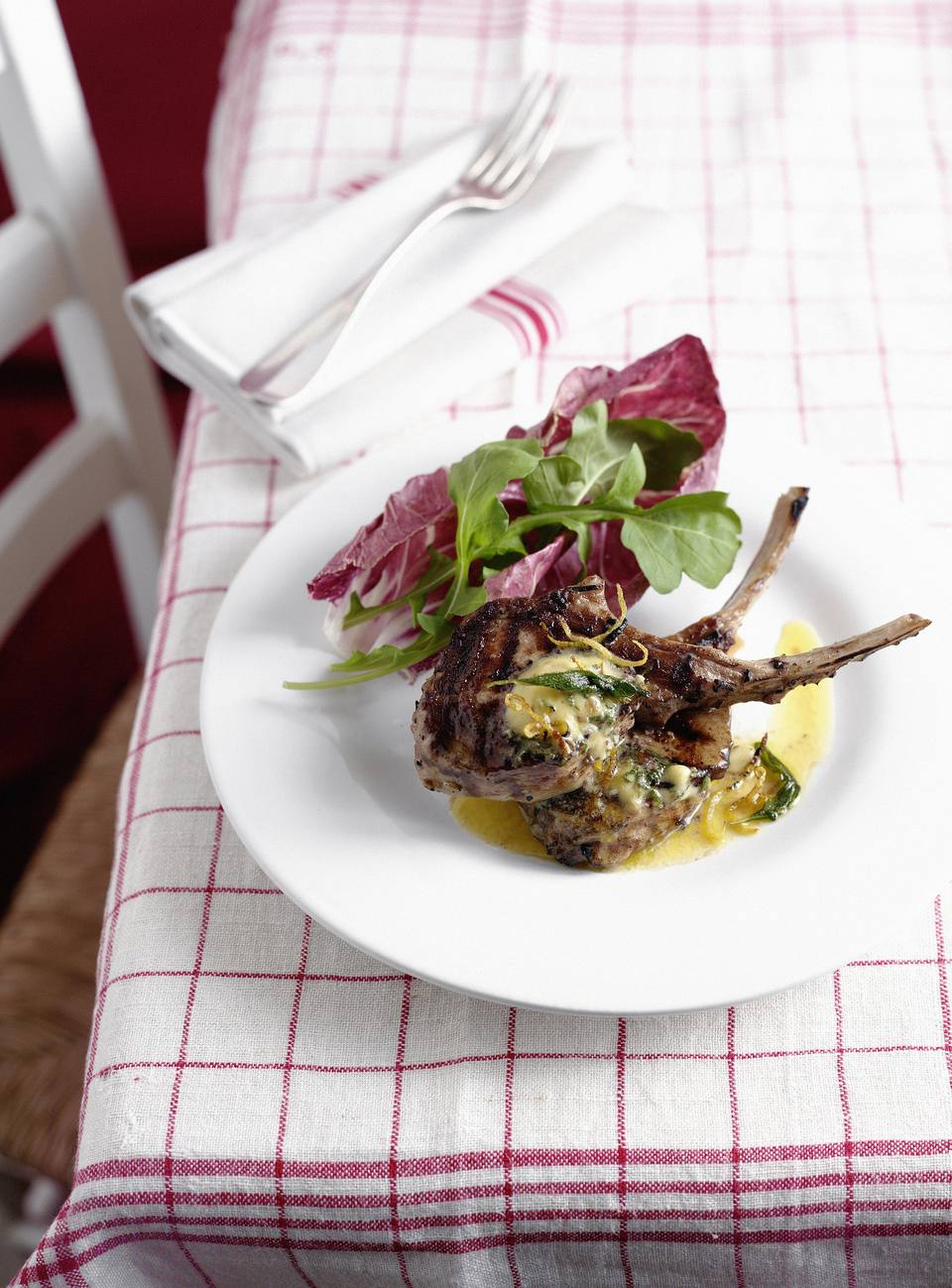 Blue Cheese Stuffed Veal Chops