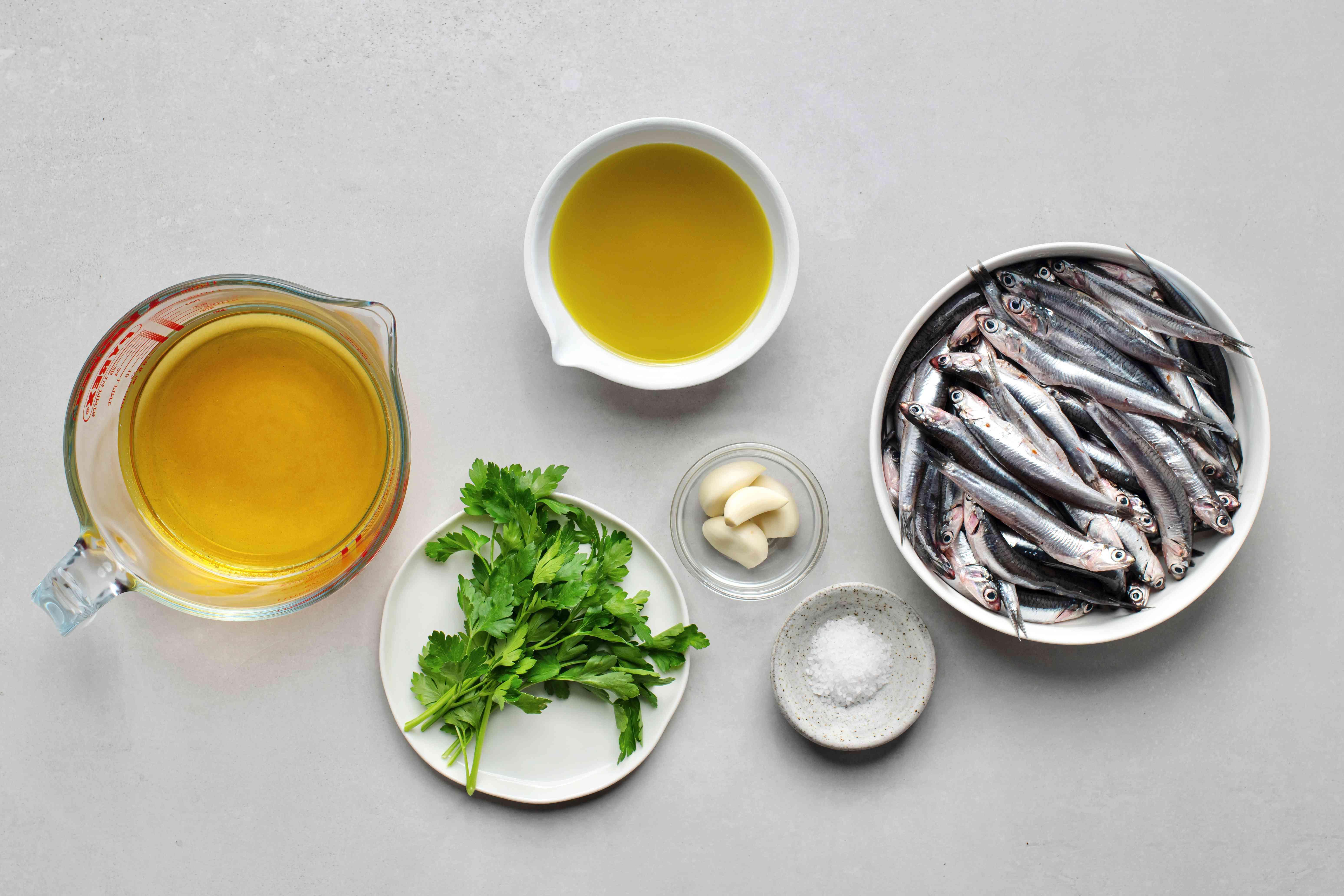 Anchovies Marinated in Vinegar (Boquerones en Vinagre) ingredients