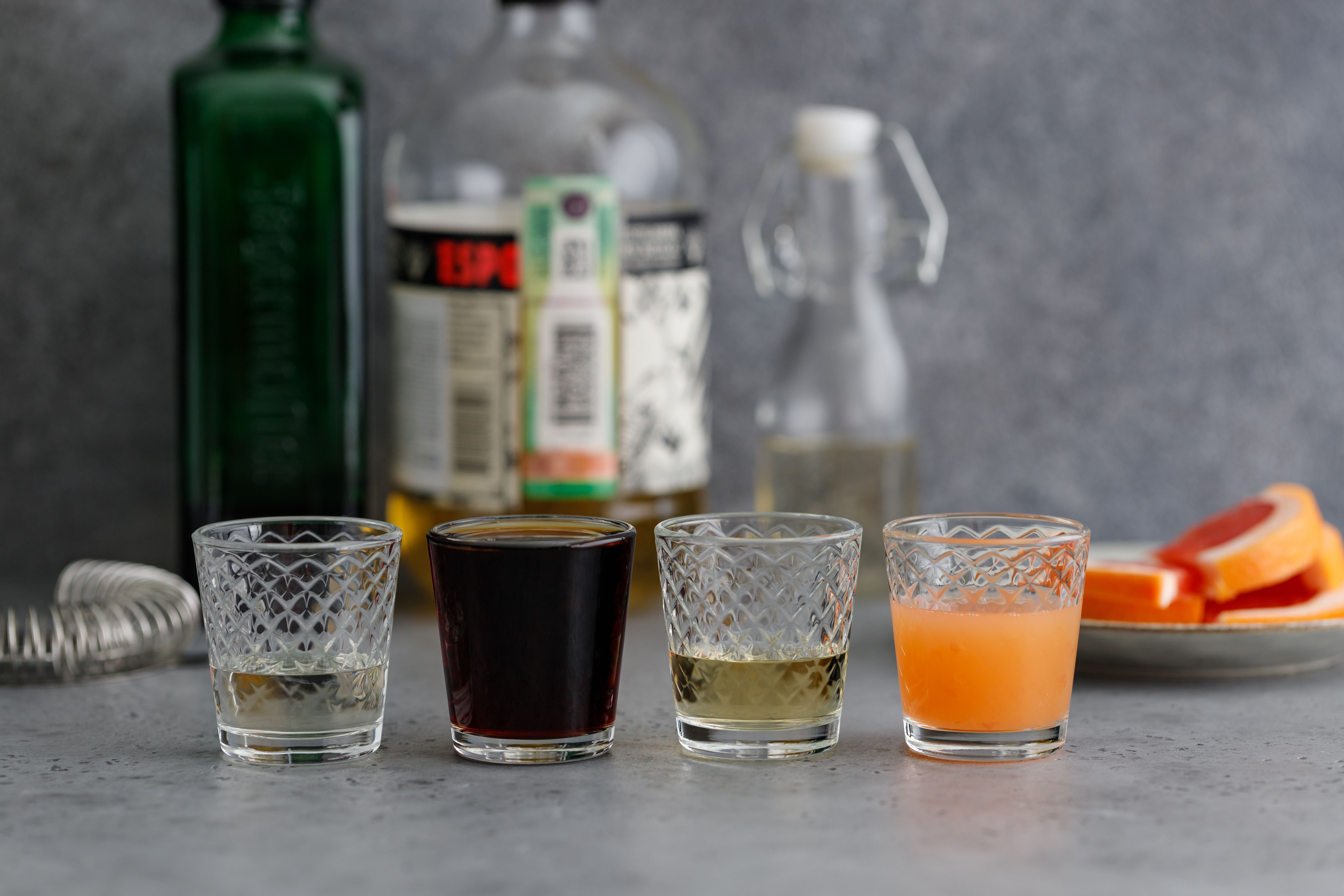 Ingredients for Fright night in the grove cocktail