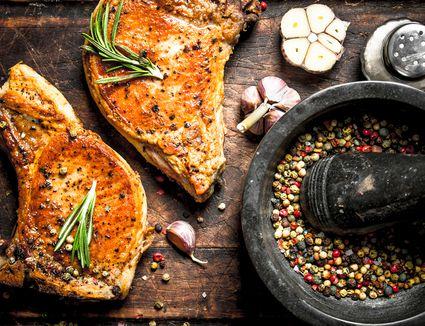 Pork Steak With Spices